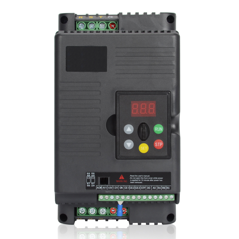 Original Universal 0.75KW 1HP 1Ph 220V 4A 500Hz Motor Drive VFD with 5M extension cable  for Lathe 3 Phase Asynchronous Motor