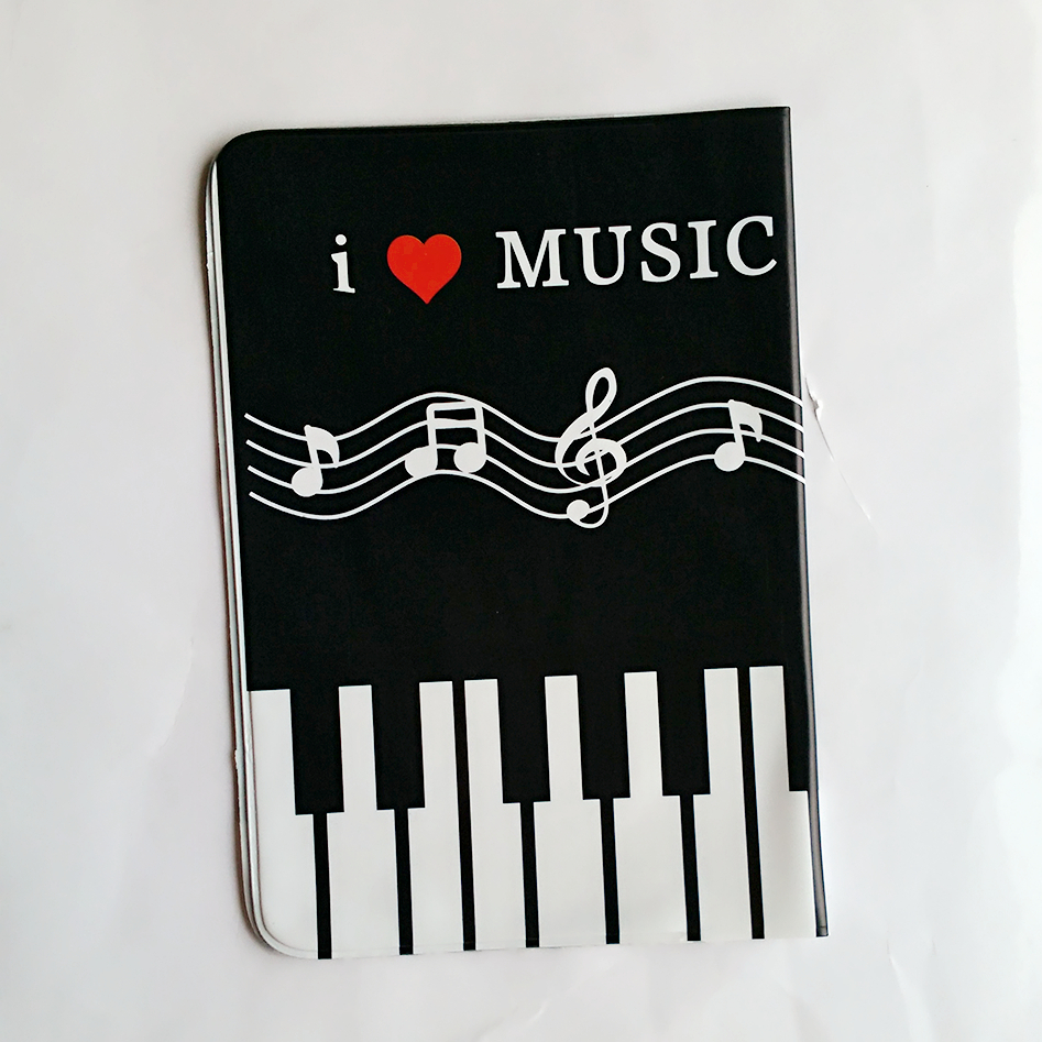 Black White Piano Keys Passport Holder Id Card Holder 3d Design Pvc
