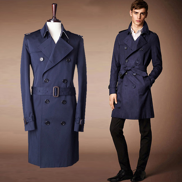 Fashion Brand Trench Coat Men 2015 Europe America Style Double ...