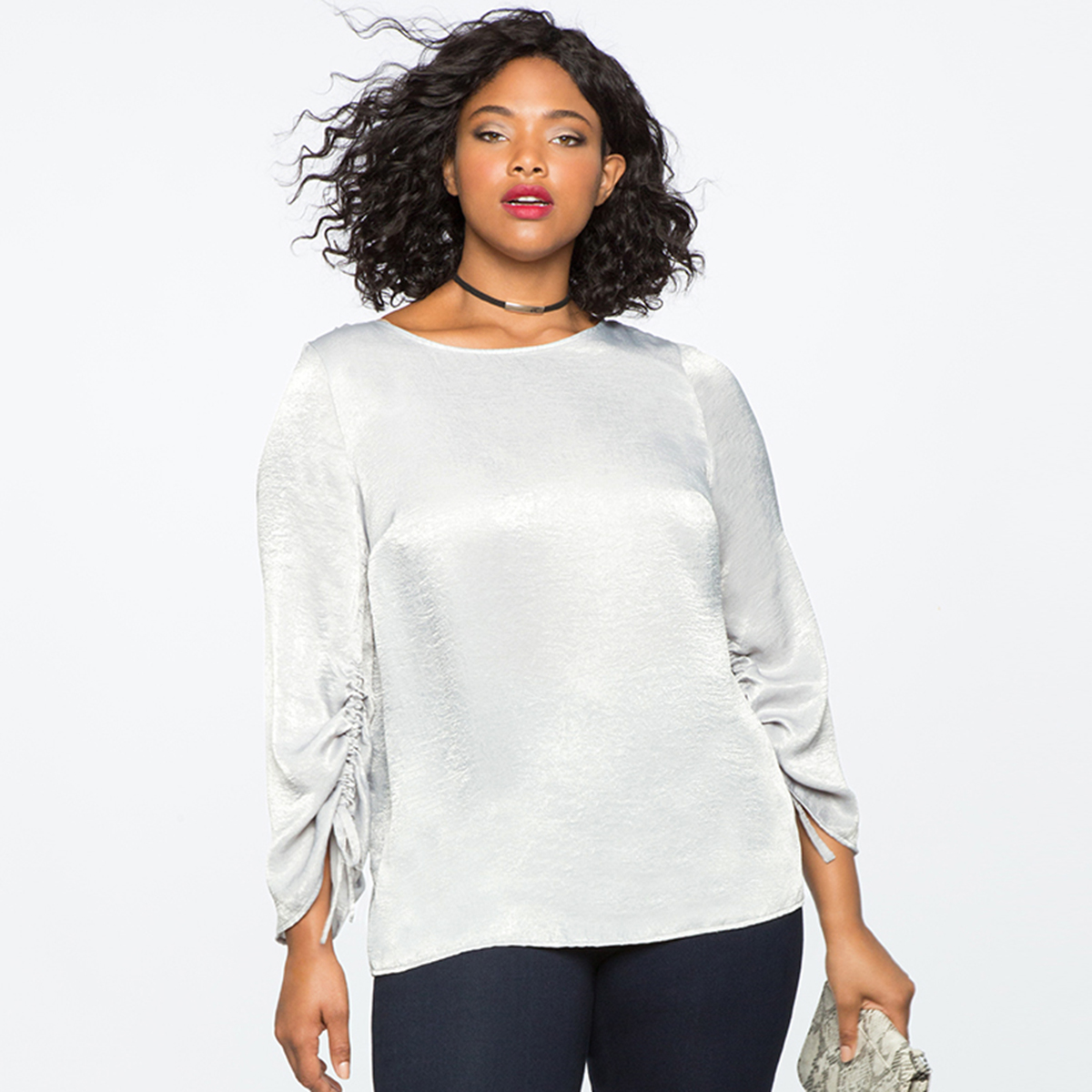 MCO 2018 Spring Lace Up Long Sleeves Plus Size Satin Women's Top Simple Office Ladies White Blouse Basic Big Women Tops 5xl 6xl 2