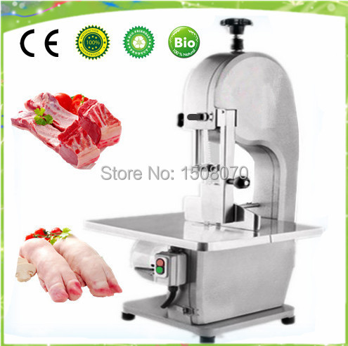 free shipping butchers fish cutting machine meat bone cutting saw machine meat bone cutter machine frozen meat bone slicer