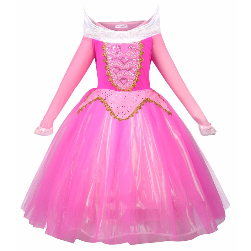 HTB1ed OJcfpK1RjSZFOq6y6nFXaf - Fancy Baby Girl Princess Clothes Kid Jasmine Rapunzel Aurora Belle Ariel Cosplay Costume Child Elsa Anna Elena Sofia Party Dress