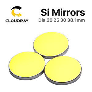 Image 3 - Si Mirror Dia. 19 20 25 30 38.1 mm Gold Plated Silicon for CO2 Laser Engraving Cutting Machine Free Shipping