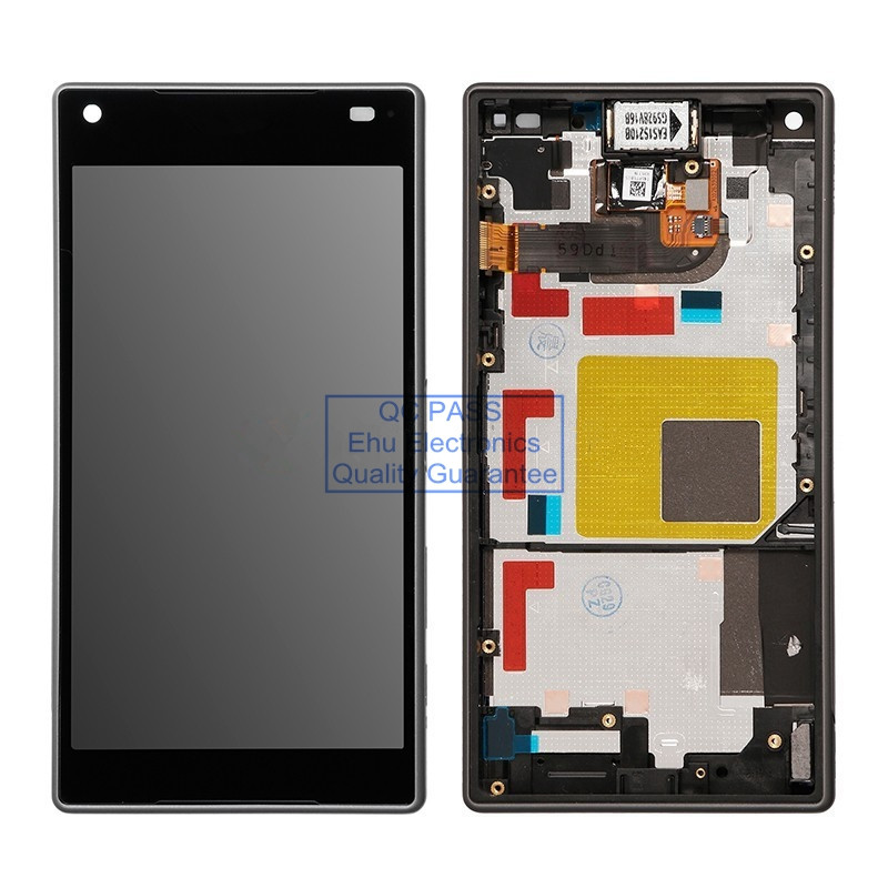 ФОТО New LCD screen and digitizer asembly with front housing replacement for Sony Xperia Z5 Compact Black