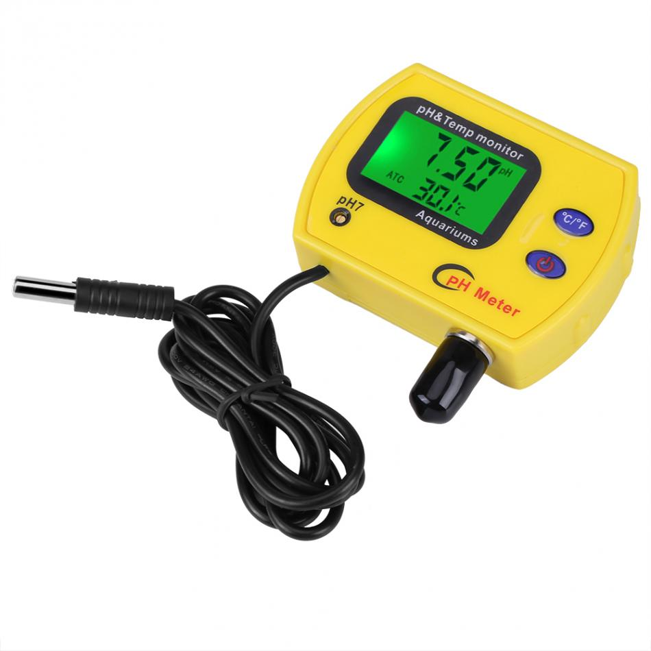 High Precision PH Meter Aquarium Acidimeter Analyzer Water Quality Temperature Monitor 0.01 PH Tester professional 2 in 1 soil moisture meter and ph level tester agriculture hydroponics farming analyzer for plants