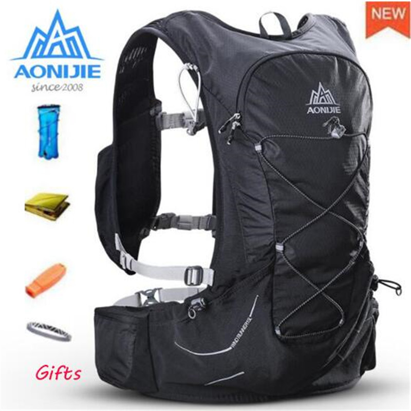 AONIJIE 15L Outdoor Lightweight Hydration Hiking Backpack Vest Marathon Running Cycling Backpack For 3L Water Bag Men Women цена и фото