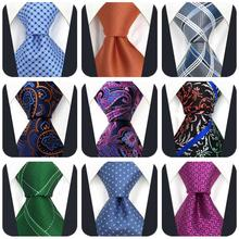 Geometric Ties for Men Paisley Fashion Accessories Wedding Mens Necktie Colorful