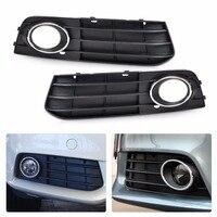 DWCX 8K0807681A 01C 8K0807682A 01C Front Left Right Bumper Fog Lamp Cover Grille For Audi A4