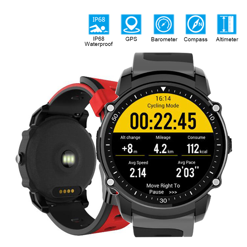 FS08 Smart Watch IP68 Waterproof GPS Sports Fitness Tracker Compass Altitude Heart Rate Monitor Wristwatch Clock for Android IOS fngeen gold automatic mechanical watch fashion mens watches top brand luxury business watch otomatik saat cube man clock 25