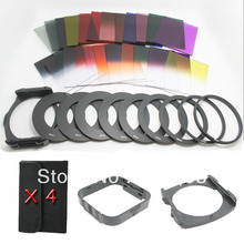 40 in1 Full Gradual ND2 4 8 Filter Set 24 Square Color Filter+ 4 Cases+ 9 ring Adapter+2 holder +Square lens hood for Cokin P