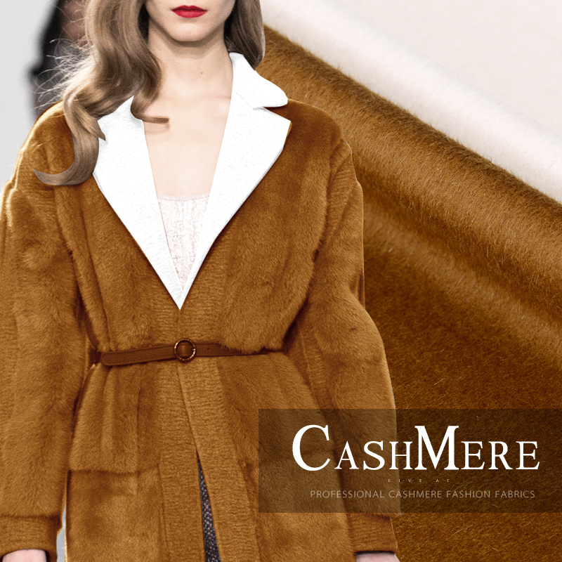 Double-sided alpaca wool fabric luxury in the long-haired double-layer Albaca velvet fabric winter coat Albaca fabric Double-sided alpaca wool fabric luxury in the long-haired double-layer Albaca velvet fabric winter coat Albaca fabric