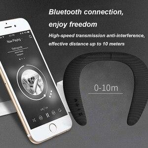 Image 4 - JINSERTA 5D Stereo Wireless Bluetooth Speaker Waterproof Wearable Ring Necking Sport Neck Hanging Microphone Bluetooth Audio