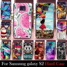 Para Samsung Galaxy S2 i9100 caso de plástico rígido caso tampa do telefone móvel DIY cor Paitn de bolsa de celular transporte Shell livre