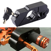 DWCX Car Black Motorcycle CNC Aluminum Alloy Anti Theft Handlebar Brake Lever Grip Throttle Caps Lock Security For Scooters ATV
