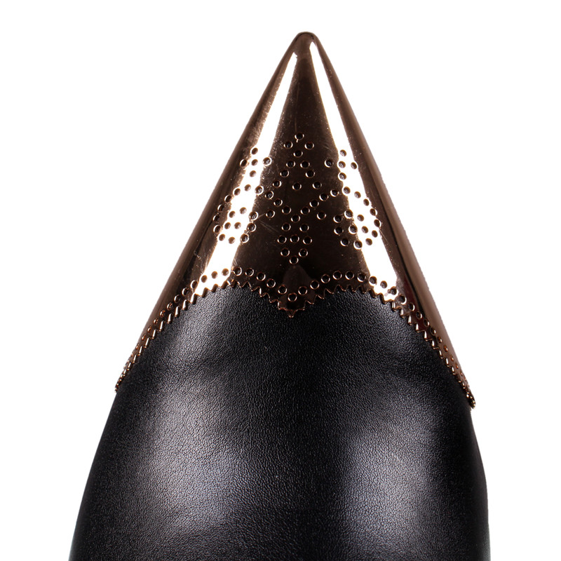 Botas B Las Tobillo Dedo Piel Mujer Puntiagudo De 0195 Alto Sexy Tacón Pie Negro Zapatos Con Black Del Nuevas Mujeres Invierno qftfwxUp
