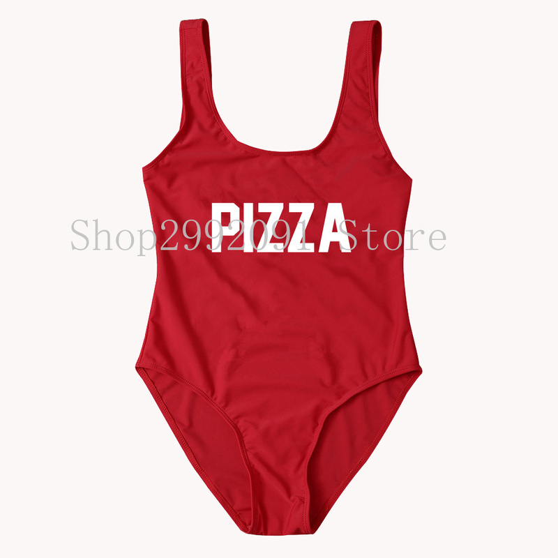Pizza one piece bathing suit