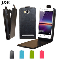 High Quality Luxury Open Up And Down Flip Pu Leather Case Cover For Huawei Y3 II Y3 2 4.5
