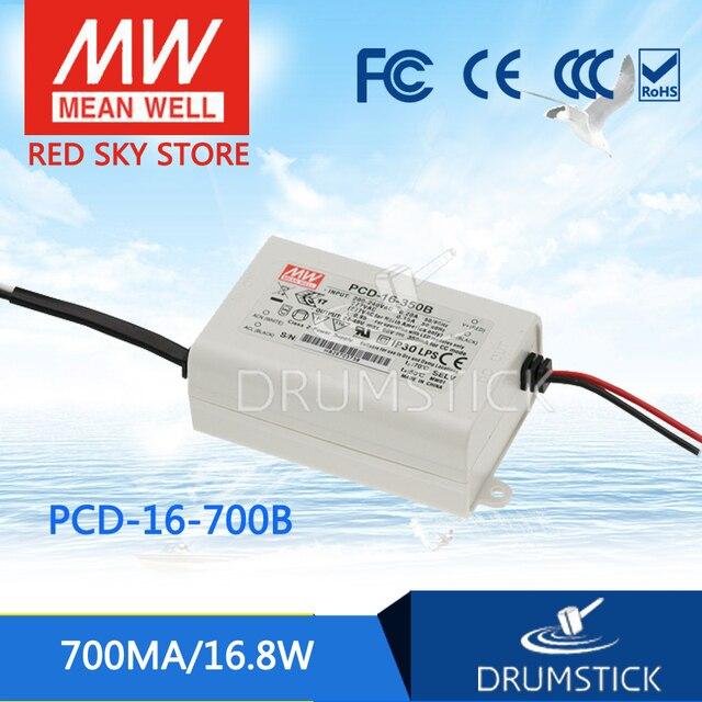 Moyenne bien PCD-16-700B 24 V 700mA meanwell PCD-16 24 V 16.8 W simple sortie commutateur de courant LED