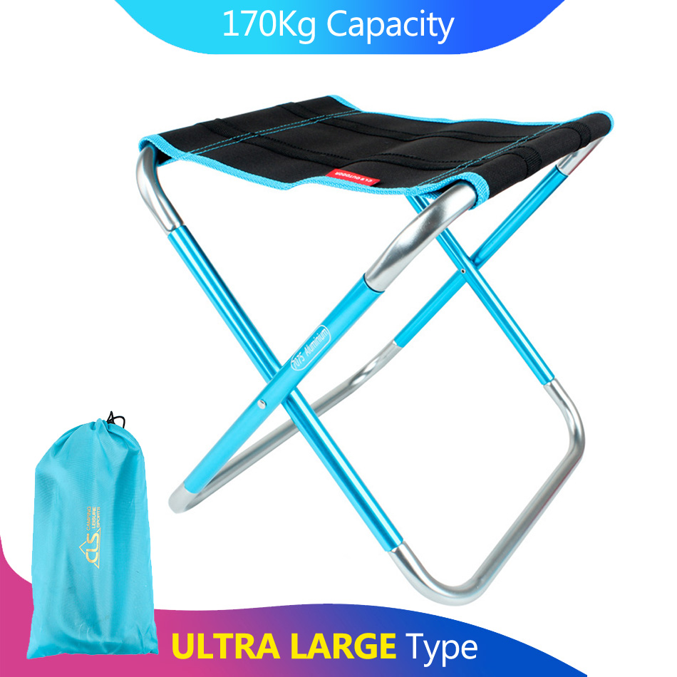 Large Camping Fishing Chair Folding Kamp Sandalyesi Foldable Outdoor Sillas de playa Stool Portable Silla Plegable Beach Bench-in Fishing Chairs from Sports & Entertainment