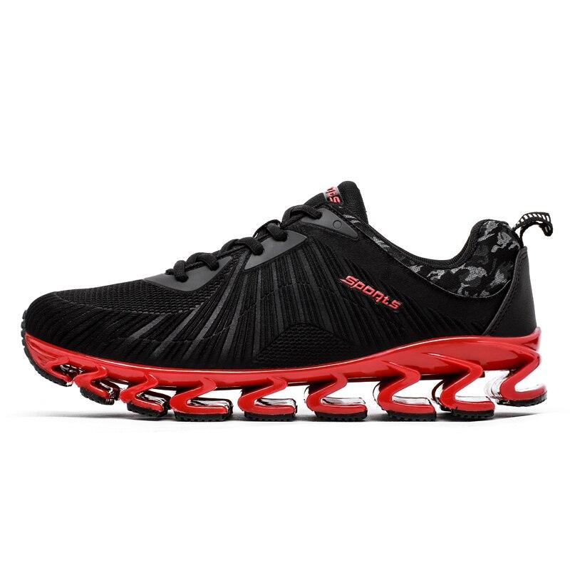 2017New Chaude Lumière Chaussures de Course Pour Hommes Respirant Sport En Plein Air Chaussures D'été Rembourrage Mâle Antichoc Semelle de Sport Sneakers