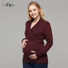 Для беременных и матерей после родов свитер пуловер с длинными рукавами Грудное вскармливание Топы беременности и родам свитер свободная туника зимняя женская одежда