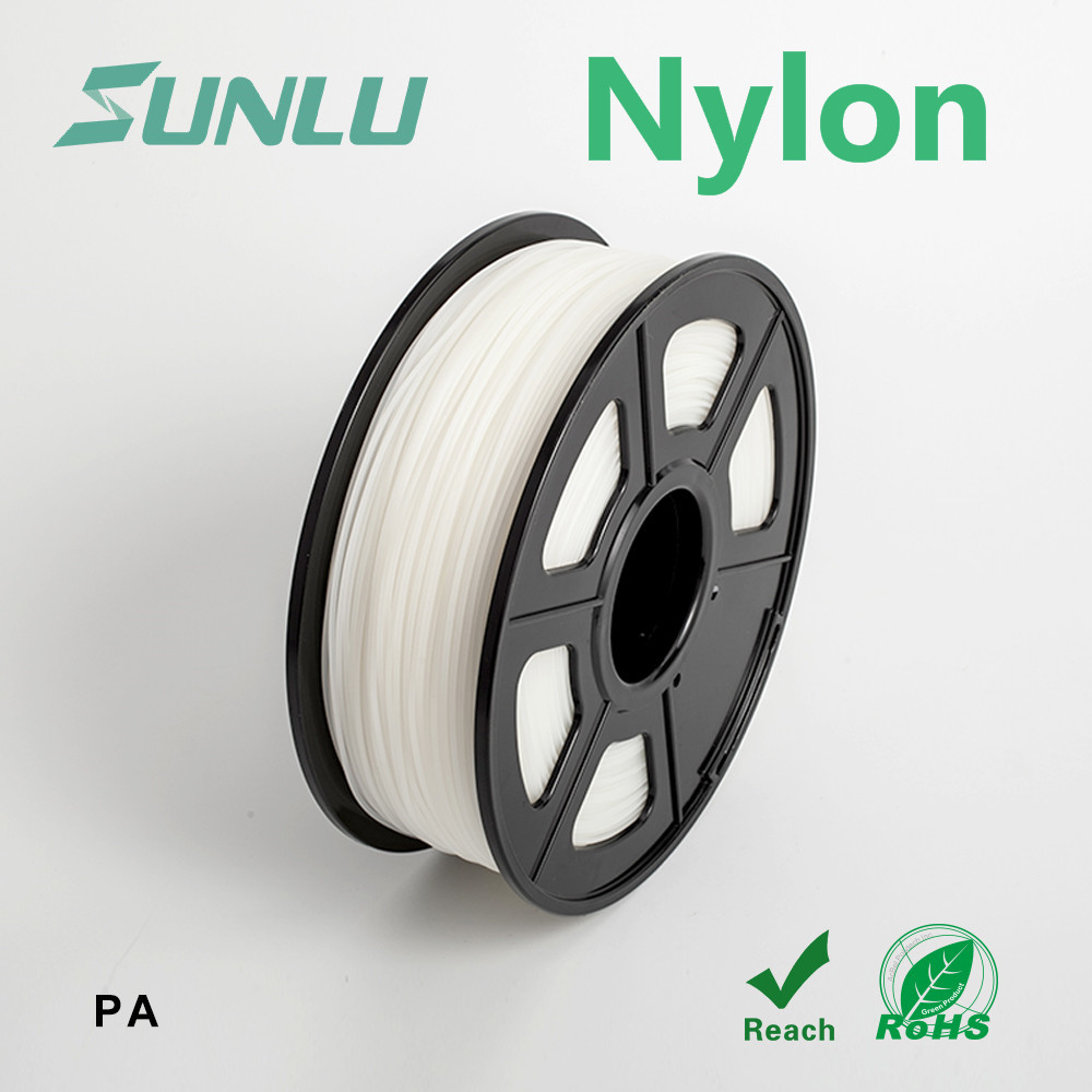 3d Printer Filament PA Nylon SUNLU Transparent White Nylon 3d FilamentFor 3d Printer Superior Smoothness Material 3.0mm 1kg3d Printer Filament PA Nylon SUNLU Transparent White Nylon 3d FilamentFor 3d Printer Superior Smoothness Material 3.0mm 1kg