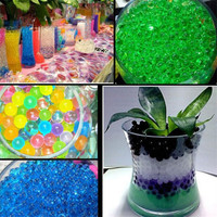 HOT 20000PCS Pearl Soil Water Beads Gel Ball For Flower Mud Grow Magic Jelly Balls Decoration