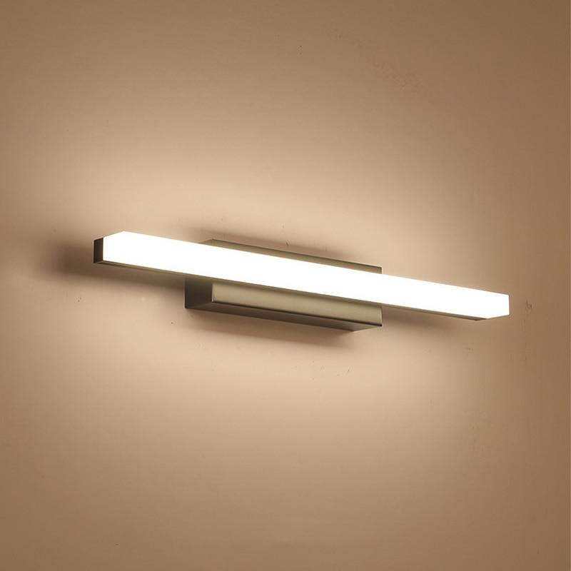 Schwarz/chrom Led spiegel licht wasserdicht waschraum badezimmer ...
