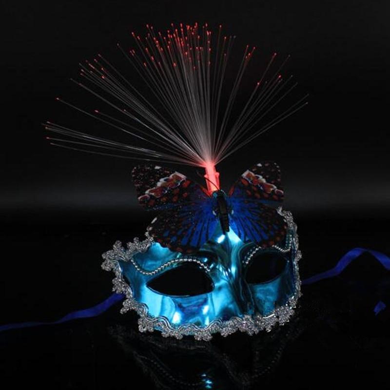 Kvinnor Flickor Sexig LED Blinkande Butterfly Mask Glödande Ljus - Semester och fester - Foto 5
