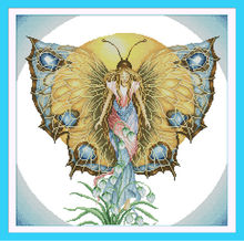 Spirit of butterfly Printed on Canvas DMC Counted Chinese Cross Stitch Kits printed Cross-stitch set Embroidery Needlework