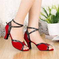 Girls Wedding Shoes Red High Heels Latin Dance Shoes 4 8 5cm Heel Height Women S