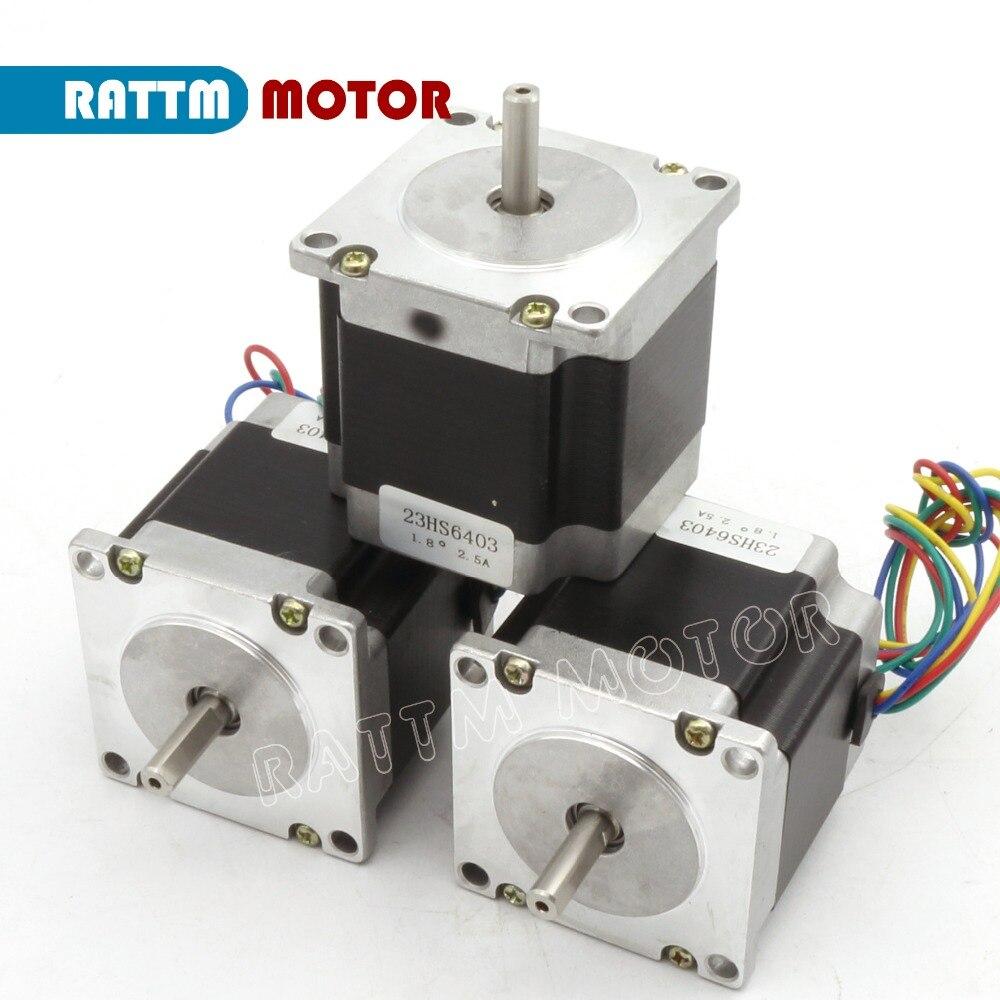 Buy 3pcs nema23 stepper motor 56mm 165 oz for Stepper motor buy online
