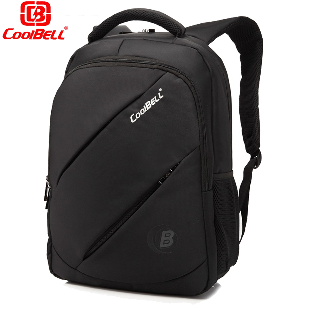 CoolBELL Waterproof Men Laptop Backpack 15.6 inch Business Travel Fashion  Black Notebook Backpack School Bag Mochilas Hombres a12794761d