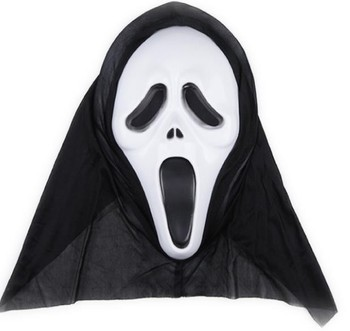 Horror party mask Volto skull mask kids adults Easter Halloween Christmas thriller terrible scream mask veil hat COSPLAY Scary