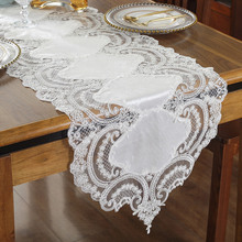 Proud Rose Luxury Lace Table Runner Tablecloth TV Cabinet Cover Cloth Embroidered Coffee Table Flag Wedding Decor proud rose luxury lace table runner romantic table flag embroidery cover towel tea table cloth tv cabinet towel
