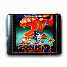Sonic the Hedgehog 2 de 16 bits da Sega MD Cartão de Jogo para o Mega Drive para Genesis