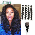 2016 Hot Sale Special Offer Ali Moda Hair Malaysian Loose Wave With Closure Human With 4 Bundles With 7a Ms On Sale