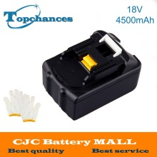 New 18V 4500mAh Li-Ion Replacement Power Tool Battery for Makita BL1830, BL1845 194205-3, LXT400