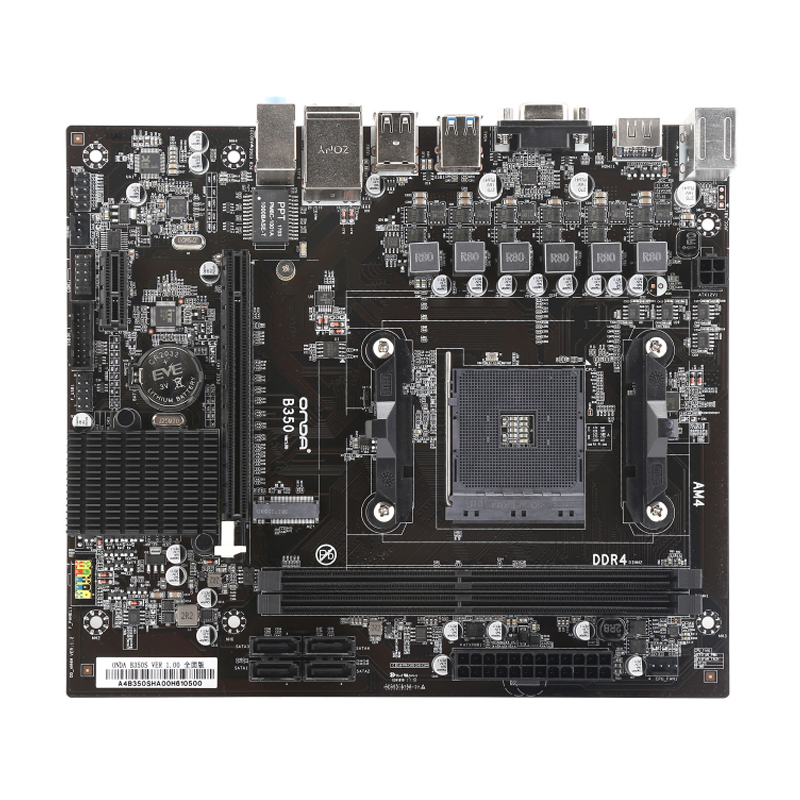 Onda B350S Motherboard AMD B350 DDR4 Memory 16GB SATA3.0 HDMI/VGA Main Board CPU 16G Processor motherboard AM4 ddr4 for OfficeOnda B350S Motherboard AMD B350 DDR4 Memory 16GB SATA3.0 HDMI/VGA Main Board CPU 16G Processor motherboard AM4 ddr4 for Office