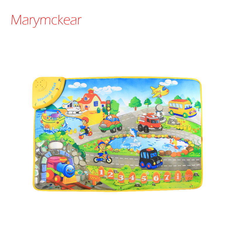 Children Music Mat Learning Mat Transport Theme Baby Educational Learning Music Electronic Children Toys Music Rug
