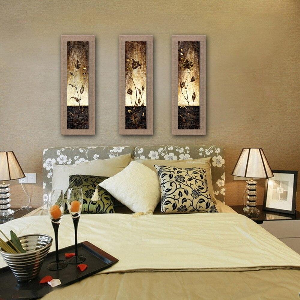 Современная 5 шт. Большая настенная живопись на холсте Абстрактная картина маслом с цветком расписанная вручную для Декорации стен комнаты - 4