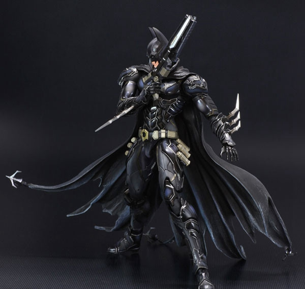 NO 1 Bat-man Figure Black Blue Edition Play Arts Kai Variant Play Art KAI PVC Action Figure Bat Man Bruce Wayne 25cm Doll Toys super street fighter iv akuma gouki white variant play arts kai action figure