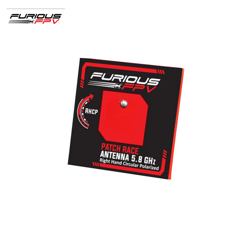 FuriousFPV 5.8GHz RHCP 6.7dBi Feather Patch Race FPV Antenna With SMA Male Connector For RC Drone Models Part Accs superior fpv connector 6pcs 5 8g right angle sma female male antenna connector for rc aircraft fpv electrical terminals aa