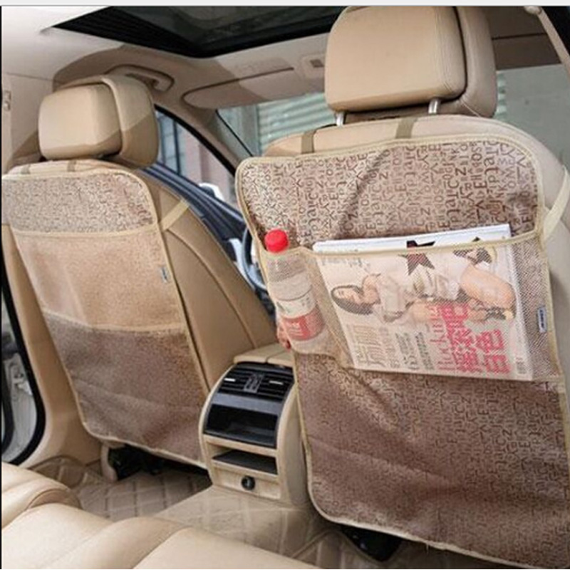 Kick Mats for Back of Your Front Seats,Backseat Protectors,Car Seat Protector with Multi Pocket Travel Storage Homeself Set of 2 Car Seat Back Organizer