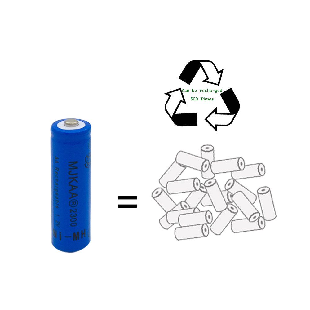 8pcs a lot Ni-MH 2300mAh AA Batteries 1.2V AA Rechargeable Battery NI-MH battery for Remote control Toys LED lights