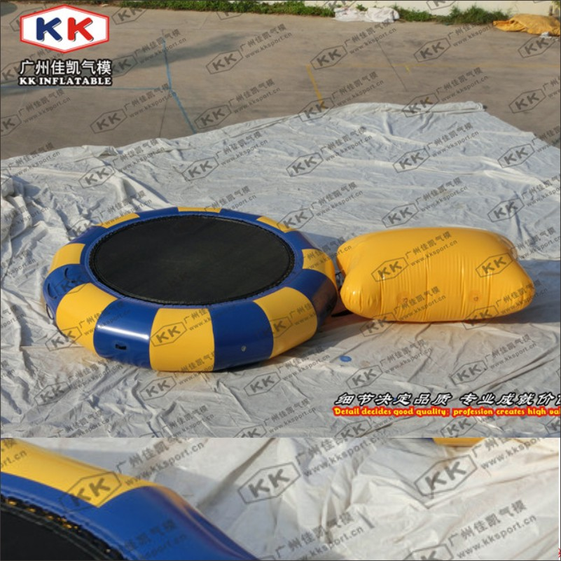 Durable PVC Tarpaulin Fabric Inflatable Water Park Water Trampoline For Pool Or Lake