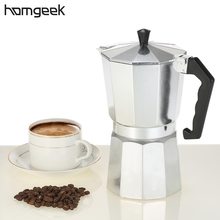 Homgeek 3cup/6cup/9cup/12cup Aluminum Espresso Percolator Coffee Stovetop Maker Mocha Pot Coffee Maker For Home Kitchen