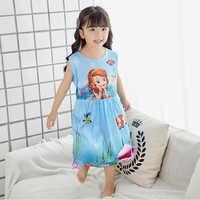 Camisón para niñas A929, vestido de dibujos animados de princesa, algodón, marca de Camisones para niños, para verano, 2019
