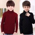 Niños Suéter para Niños Ropa de Abrigo de Invierno Sólido Pullovers Niñas Niños Ropa infantil Camisa Ropa de Punto 18 M 2 4 6 8 10 12 14