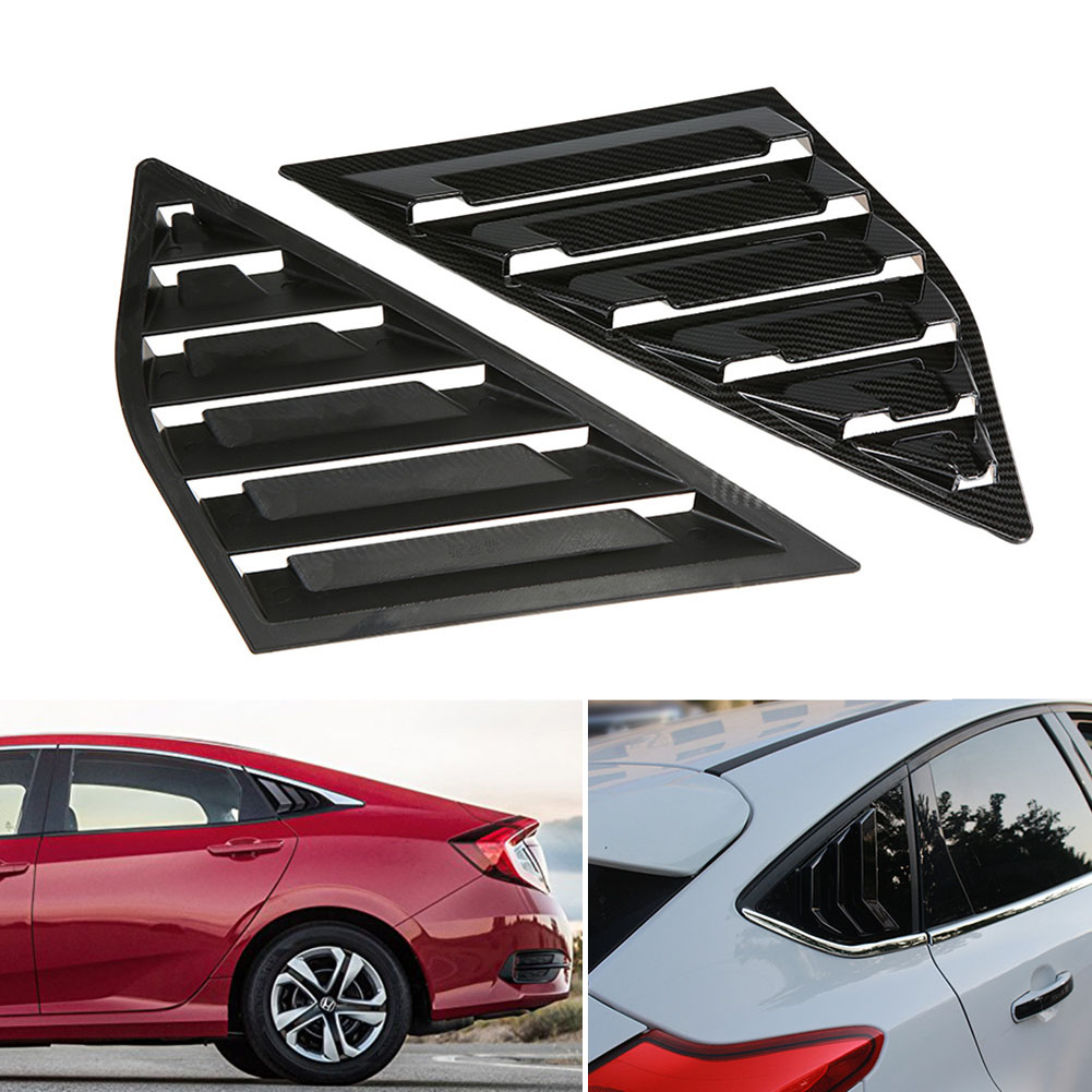 2019 Hot 1 Pair Side Louvers Vent Hatchback Carbon Fiber ABS Window for Ford Focus ST RS MK3 JLD Peugeot-in Windshields from Automobiles & Motorcycles